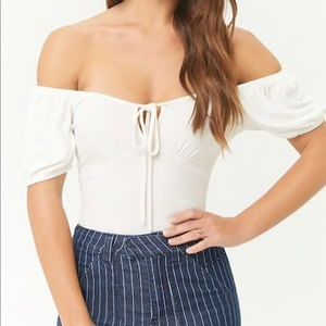 White Off The Shoulder Top | Forever 21